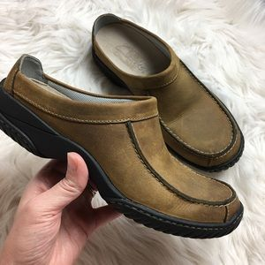 Clark's | Brown Leather Slip On Mule Shoes | 6.5M